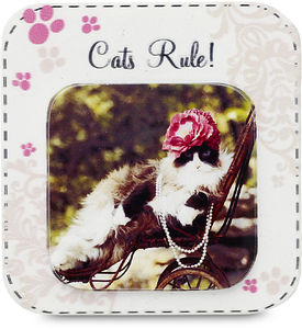 "Cats Rule by Candidly...LOL - 2.75"" x 2.75"" Magnet"
