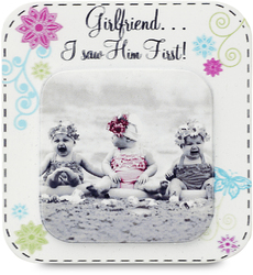 "Girlfriend... by Candidly...LOL - 2.75"" x 2.75"" Magnet"