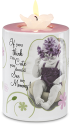 "Mom by Candidly...LOL - 4"" Tea Light Holder"