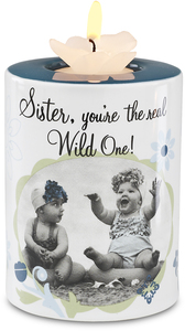 "Sister by Candidly...LOL - 4"" Tea Light Holder"