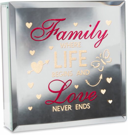 "Family by Reflections of You - Family - 6"" Lit-Mirrored Plaque"