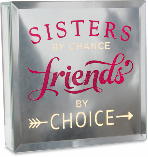 "Sisters by Reflections of You - Sisters - 6"" Lit-Mirrored Plaque"