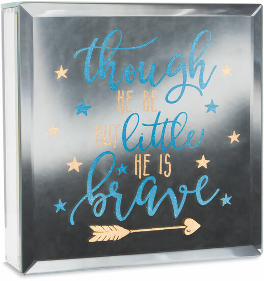 "Brave by Reflections of You - Brave - 6"" Lit-Mirrored Plaque"