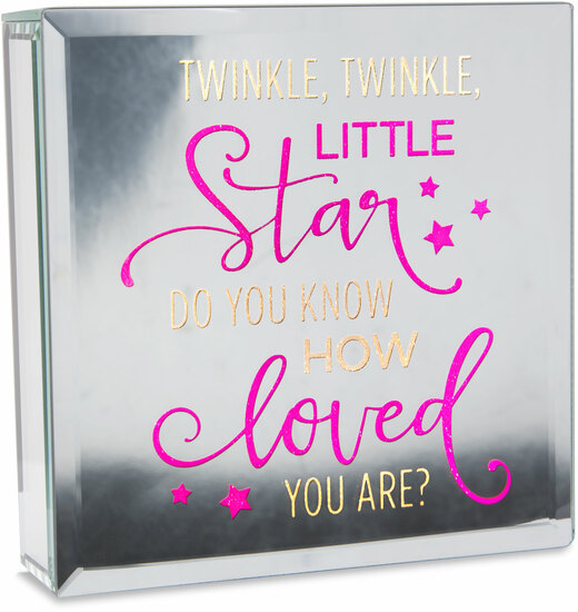 "Twinkle by Reflections of You - Twinkle - 6"" Lit-Mirrored Plaque"