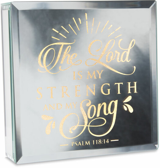 "Strength by Reflections of You - Strength - 6"" Lit-Mirrored Plaque"