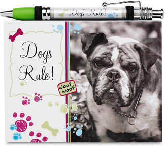 Dogs Rule by Candidly...LOL - Notepad & Banner Pen Set