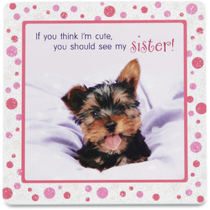 "Sister by Shaded Pink - 3.5"" x 3.5"" Standing Plaque"