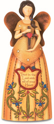"Faith by Country Soul - 7.5"" Angel Holding Cross"