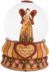 Mom by Country Soul - 100mm Musical Water Globe