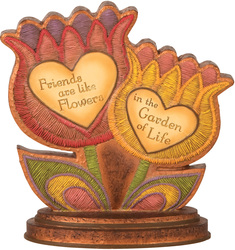 "Friends by Country Soul - 4.5""x4.5"" Flower Plaque"