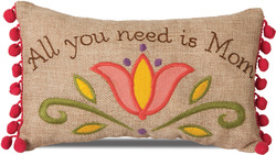 "Mom by Country Soul - 10""x6"" Rectangular Pillow"