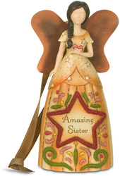"Sister by Country Soul - 4.5"" Angel Ornament"