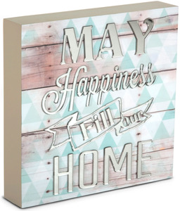 "Happiness by Radiant Reflections - 8"" x 8"" Self-Standing Plaque"