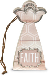 "Faith by Radiant Reflections - 4.5"" Self-Standing Angel Ornament"