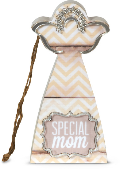 "Special Mom by Radiant Reflections - Special Mom - 4.5"" Self-Standing Angel Ornament"
