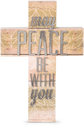"Peace by Radiant Reflections - 9"" Self-Standing Wall Cross"