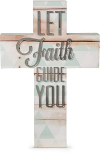 "Faith by Radiant Reflections - 9"" Self-Standing Wall Cross"