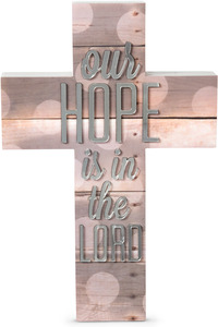 "Hope by Radiant Reflections - 9"" Self-Standing Wall Cross"