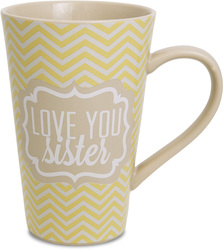 Sister by Radiant Reflections - 18oz. Latte Mug
