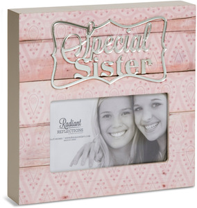 "Sister by Radiant Reflections - 6.75"" x 6.75"" Frame (Holds 3"" x 5"" Photo)"