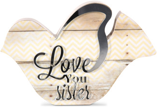 "Sister by Radiant Reflections - 5"" Bird Plaque"
