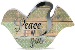 "Peace by Radiant Reflections - 5"" Bird Plaque"