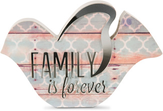 "Family by Radiant Reflections - 5"" Bird Plaque"