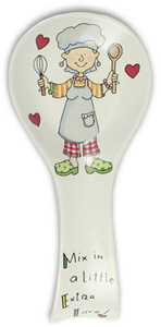 "Mix in a Little Extra Love! by Well Seasoned - 9"" Spoon Rest"