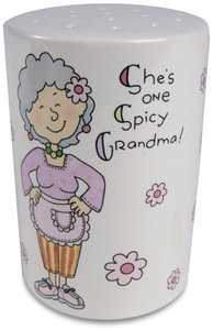"Spicy Grandma by Well Seasoned - 4"" x 2.75"" Spice Shaker"