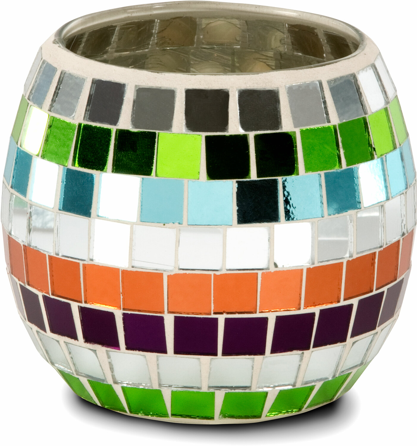 mosaic glass candle holder round 4 5 mosaic glass candle. Black Bedroom Furniture Sets. Home Design Ideas
