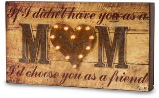 "Mom by Marquee Message - 11"" x 6"" LED Marquee Plaque"
