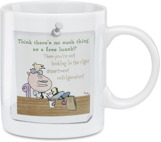 "Free Lunch by An Honest Day's Work - 3.5"" Mug"