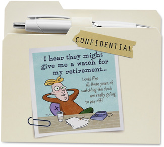 "Retirement by An Honest Day's Work - 4.75""x4.25"" Notepad w/Pen"