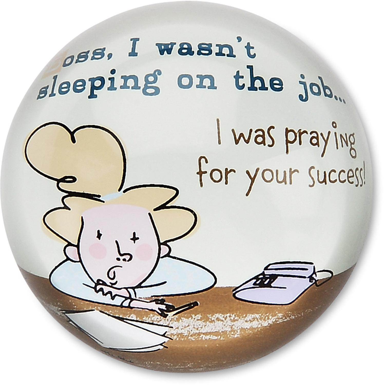 Sleeping On The Job 3 Glass Paper Weight An Honest Day