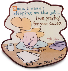 "Sleeping on the Job by An Honest Day's Work - 3""x3"" Magnet"