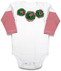 Peppermint by Itty Bitty & Pretty - Long Sleeve Onesie (6-9 Months)