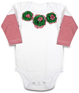 Peppermint by Itty Bitty & Pretty - Long Sleeve Onesie (9-12 Months)