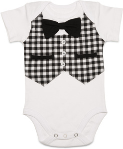 Gingham Style by Itty Bitty & Pretty - 0-6 Months Short Sleeve Onesie