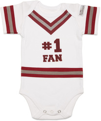 Crimson & Gray by Itty Bitty & Pretty - #1 Fan Onesie (0-6 Months)