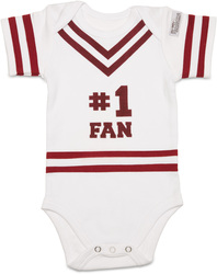 Maroon & White by Itty Bitty & Pretty -  #1 Fan Onesie (0-6 Months)