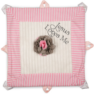 "Prima Ballerina by Itty Bitty & Pretty - Jesus Loves Me 13"" x 13"" Lovie Blanket"