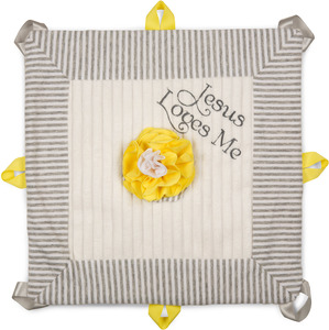 "Sunshine by Itty Bitty & Pretty - Jesus Loves Me 13"" x 13"" Lovie Blanket"