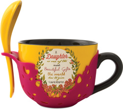 Daughter by Words to Breathe By - 16oz Soup Bowl with Spoon
