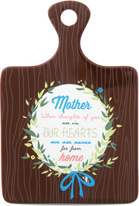 "Mother by Words to Breathe By - 5""x7.25"" Ceramic Trivet"