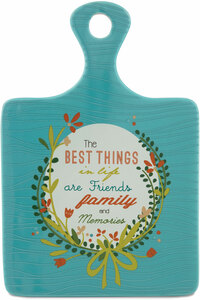 "Best Things in Life by Words to Breathe By - 5""x7.25"" Ceramic Trivet"