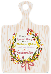 "Grandma by Words to Breathe By - 5""x7.25"" Ceramic Trivet"