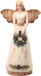 "Home by Simple Spirits - 11"" Angel Holding Wreath"