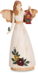 "Sister by Simple Spirits - 6"" Angel Holding Birdhouse"