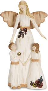 "Guardian Angel by Simple Spirits - 11"" Angel with Boy & Girl"