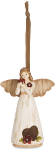 "Love by Simple Spirits - 4.5"" Angel Holding Heart Ornament"
